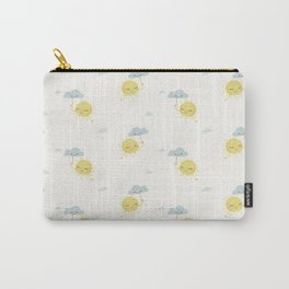 Little Sun white Carry-All Pouch