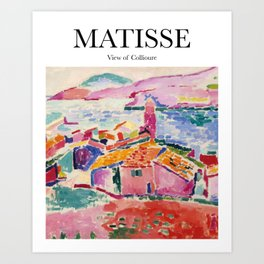 Matisse - View of Collioure Art Print