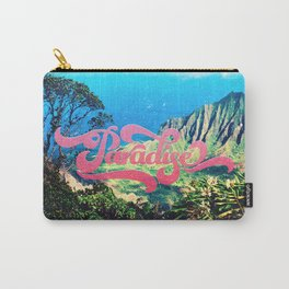 Pink Teal Retro Paradise Vintage Style Photography Carry-All Pouch
