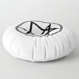 Men of Letters Symbol Black Floor Pillow
