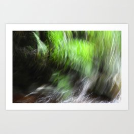 Abstract Ferns and Flowing Water Art Print