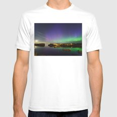Shooting Star Aurora at Lanes Cove X-LARGE Mens Fitted Tee White