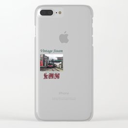 Vintage Steam Railway Train at the Station Clear iPhone Case