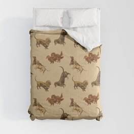 DACHSHUND DOGS Comforters