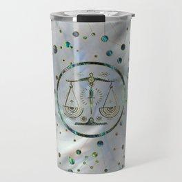 Libra Zodiac Gold Abalone on Constellation Travel Mug
