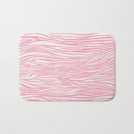 Cute Pink Zebra Skin Pattern Bath Mat