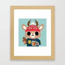 Deer in a Sweater Framed Art Print