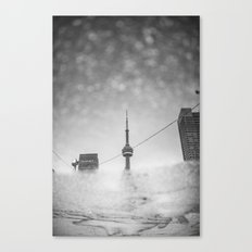 CN Tower reflection Canvas Print