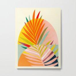 minimal leave tropical spring Metal Print