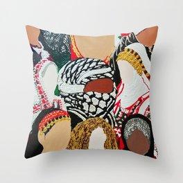 Palestinian Ladies Throw Pillow