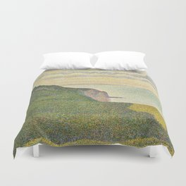 Georges Seurat Seascape at Port-en-Bessin, Normandy 1888 Painting Duvet Cover