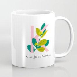 K is for Kalanchoe Coffee Mug