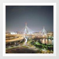 Zakim Bridge Art Print