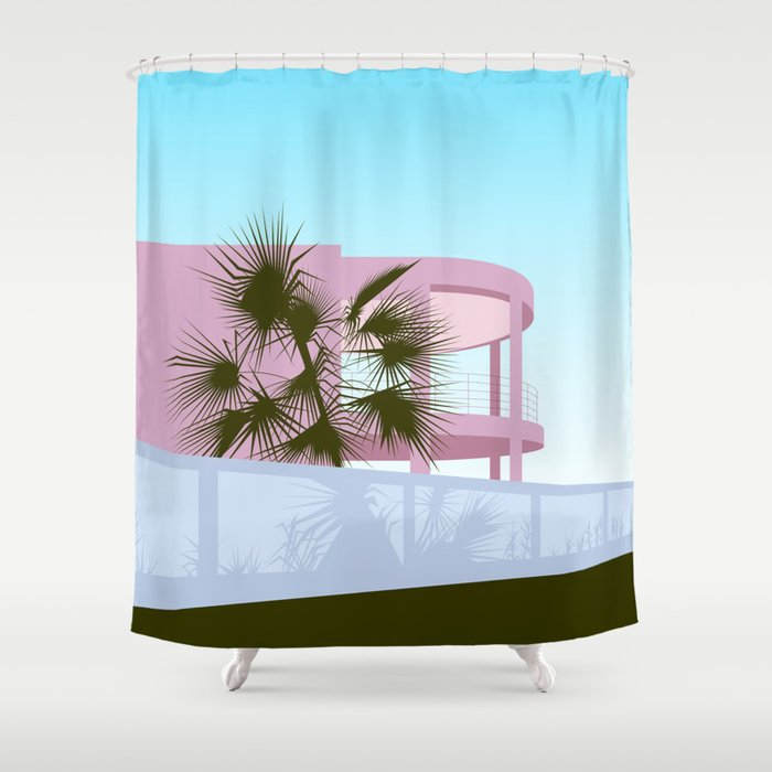 Art Deco Beach House Shower Curtain