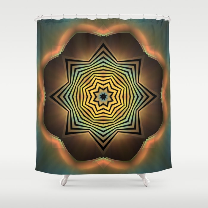 Eight Sides Of Zen Shower Curtain By Lyle58