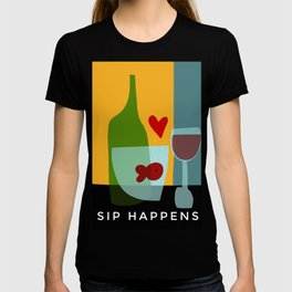 Goldfishes love red wine- with funny caption T-shirt