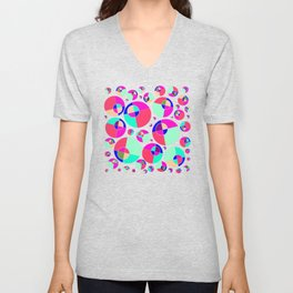 Bubble pink Unisex V-Neck