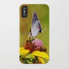 Brown Eyed Susan & Hairstreak Butterfly iPhone X Slim Case