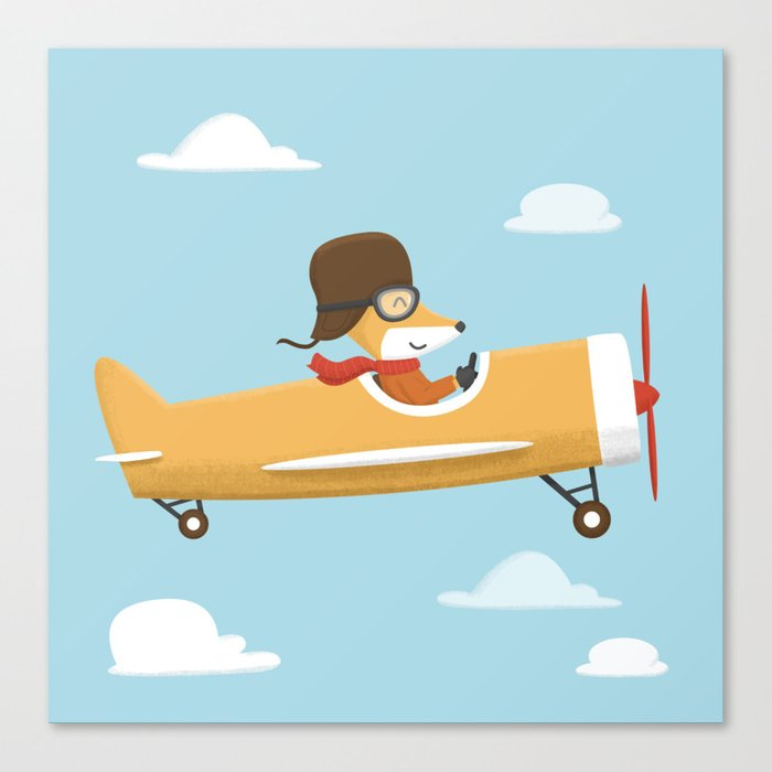 Mr. Fox is Flying Canvas Print