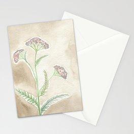 Pink Yarrow Stationery Cards