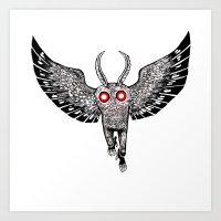 mothman rising Art Print