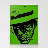 hunter s thompson Stationery Cards featuring Outlaws of Literature (Hunter S. Thompson) by Silvio Ledbetter