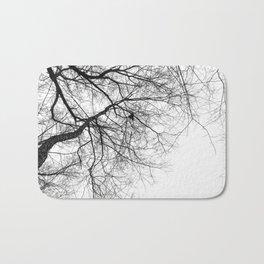 Bare Branches Hold Heart Nest Bath Mat