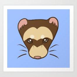 Logo Ferret (Chocolate) Art Print
