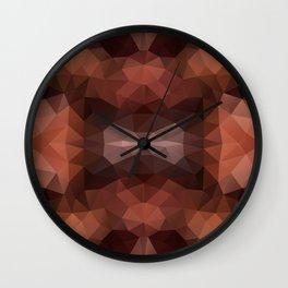 Mozaic design in dark brown colors Wall Clock