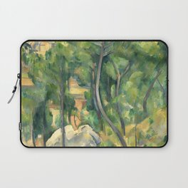 """Paul Cezanne """"View of the sea at L'Estaque"""" Laptop Sleeve"""