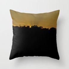 in silence i await... Throw Pillow
