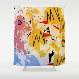 Attack of the killer bees Shower Curtain