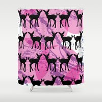 bambi Shower Curtains featuring Bambi Pattern by C Designz