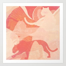 Nomade in Terracotta Art Print