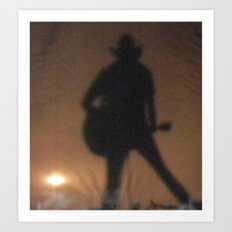 shadow man Art Print