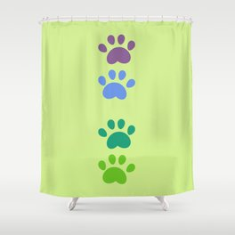 Footstep Shower Curtain
