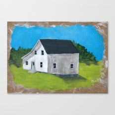 White Farmhouse. Canvas Print
