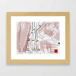 Bamboo Pattern Framed Art Print