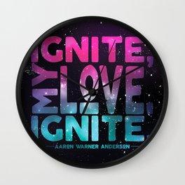 Shatter Me - Ignite, My Love Wall Clock