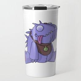 Cute Plush Dino Travel Mug
