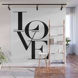 LOVE IS SWEET, Love Sign,Love Art,Wedding Decor,Anniversary Quote,Love Symbol,Love you more Wall Mural