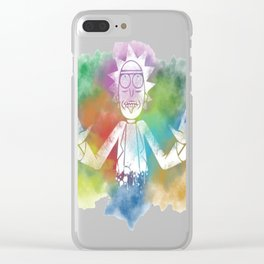 Rick and Morty Minimal T-Shirt Clear iPhone Case