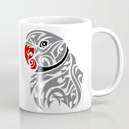 Grey ringneck parrot tattoo Coffee Mug