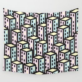 skyscrapers Wall Tapestry