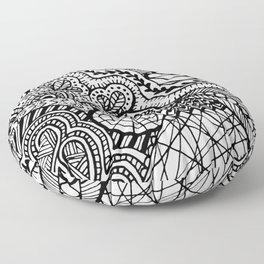 Doodle2 Floor Pillow