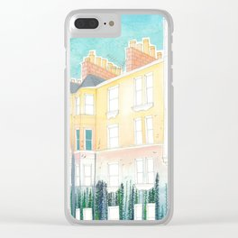 They Dream of Green Spaces (trees and homes) Clear iPhone Case