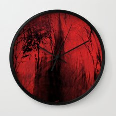 Blood red sky Wall Clock