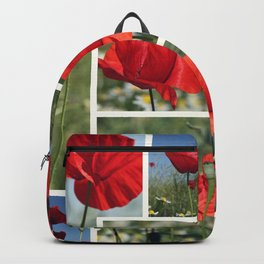 Poppies Collage Backpack