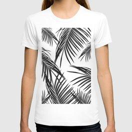 Black Palm Leaves Dream #1 #tropical #decor #art #society6 T-shirt