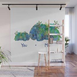 You + Me Succulent Elephants Wall Mural
